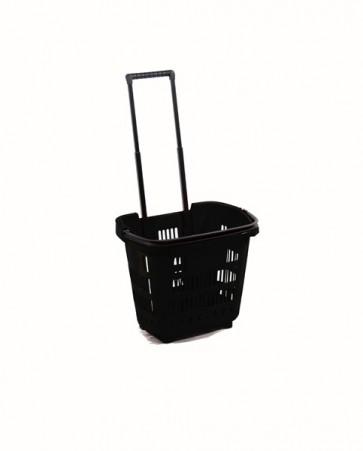 Winkelmand trolley zwart 34 Liter