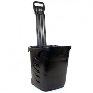 Winkelmandjes / trolleys zwart 38 Liter