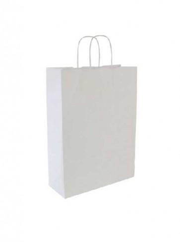 Papieren draagtas 32x14x42cm wit (bxdxh) per 50 stuks