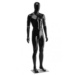 Onbreekbare heren etalagepop H1 met hoofd hoogglans zwart