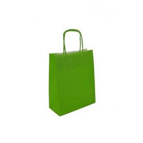 Papieren draagtas 24x11x31cm limoen (bxdxh) per 50 stuks