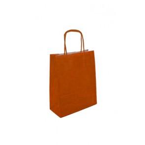 Papieren draagtas 24x11x31cm oranje (bxdxh) per 50 stuks
