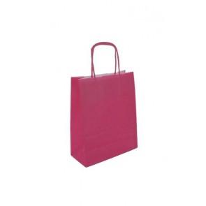 Papieren draagtas 24x11x31cm roze
