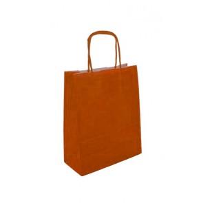 Papieren draagtas 32x14x42cm oranje (bxdxh) per 50 stuks