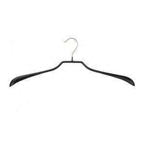 Antislip kledinghanger B40 cm met brede schouders zwart