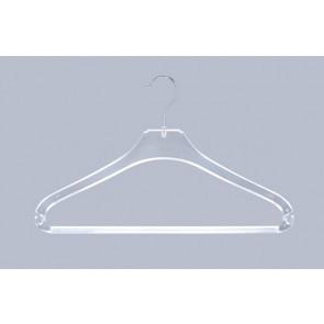Broek-rok-shirt kledinghanger B42 cm Transparant met broeklat