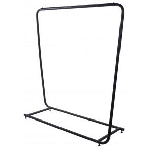 Design kledingrek rechthoek zwart 150cm breed