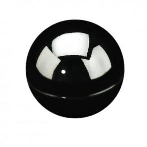 Eindbol zwart voor buis 25mm