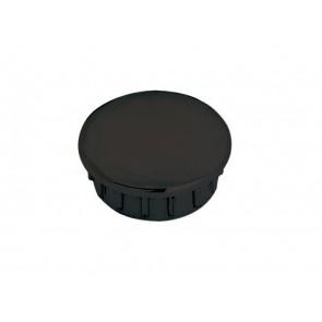 Einddop zwart voor buis 25mm