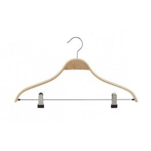 Gelaagde kledinghanger hout 46 cm met knijpers