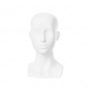 Hoofd dame gestileerd mat wit polyester