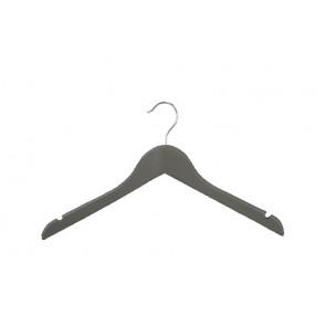 Kinder kledinghanger 32 cm antraciet grijs