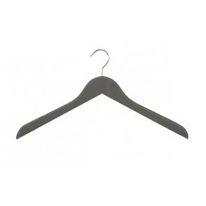 Geknikte kledinghanger 44 cm antraciet grijs