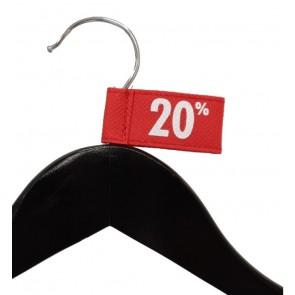 Label aanduider vaantje kledinghangers 20%