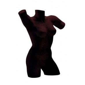Lingerietorso vrouw zwart met armen