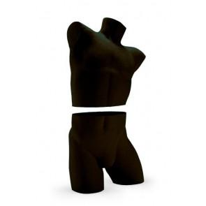 Lingerietorso man zwart uit twee delen