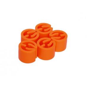 Maatdopjes blanco Oranje