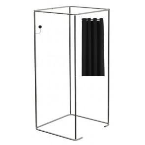 Mobiele paskamer incl zwarte gordijnen