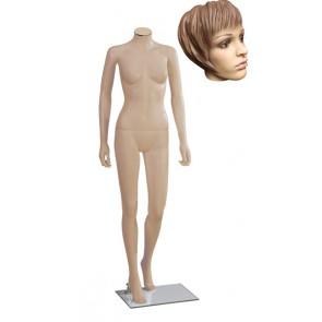 Onbreekbare dames etalagepop H2 met hoofd 1 huidskleur