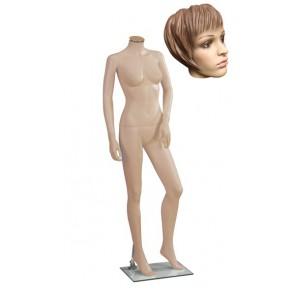 Onbreekbare dames etalagepop H3 met hoofd 1 huidskleur