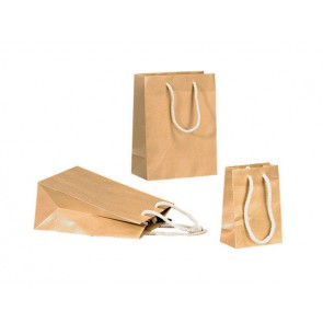 Papieren draagtas 20x10x25cm (bxdxh) Bruin