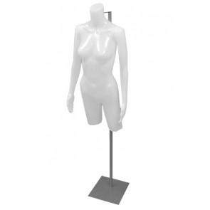 Dames torso wit met armen op verstelbare voet