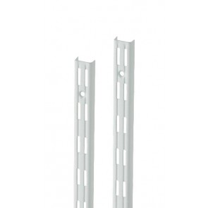Wandrek rail wit dubbele perforatie per paar 250cm lang