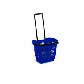 Winkelmand blauw 34 Liter
