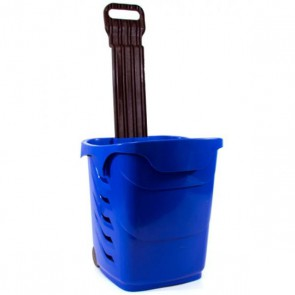 Winkelmandjes / trolleys donkerblauw 38 Liter