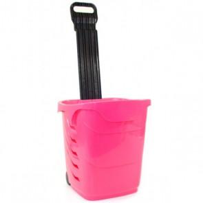 Winkelmandjes / trolleys roze 38 Liter