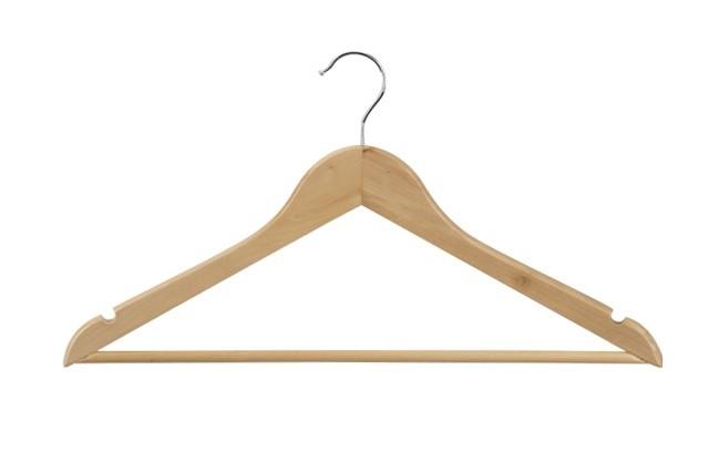 Geknikte hanger 44 cm met broeklat Blank gelakt 8084153