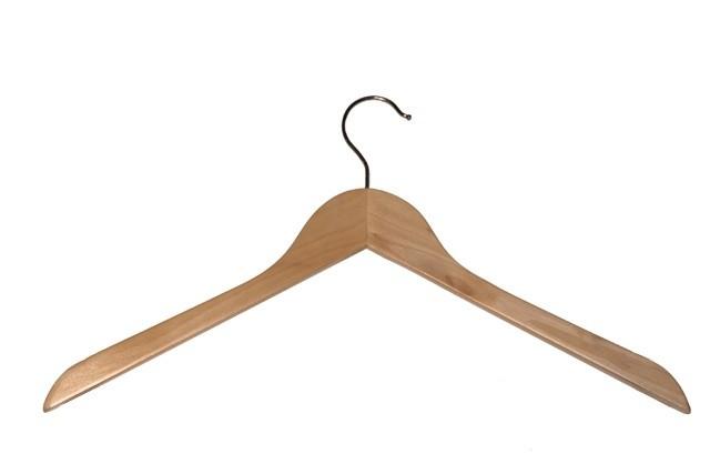 Vlakke kledinghanger 44 cm Blank gelakt 8086153