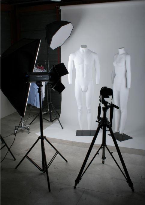 etalagepop voor fotografie met uitneembare onderdelen