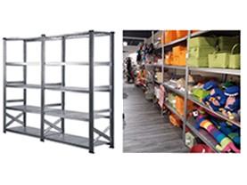 Metalen magazijnstellingen in diverse afmetingen en configuraties